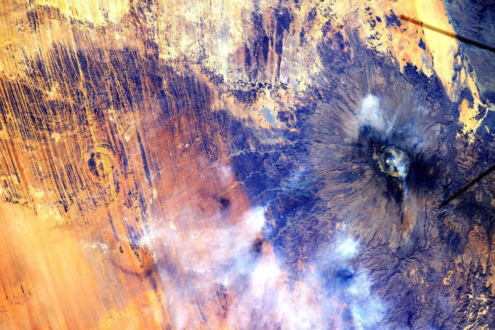 Widok na Afrykę z Międzynarodowej Stacji Kosmicznej.