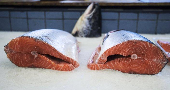 Ryba na Dorogomilowskim targu w Moskwie