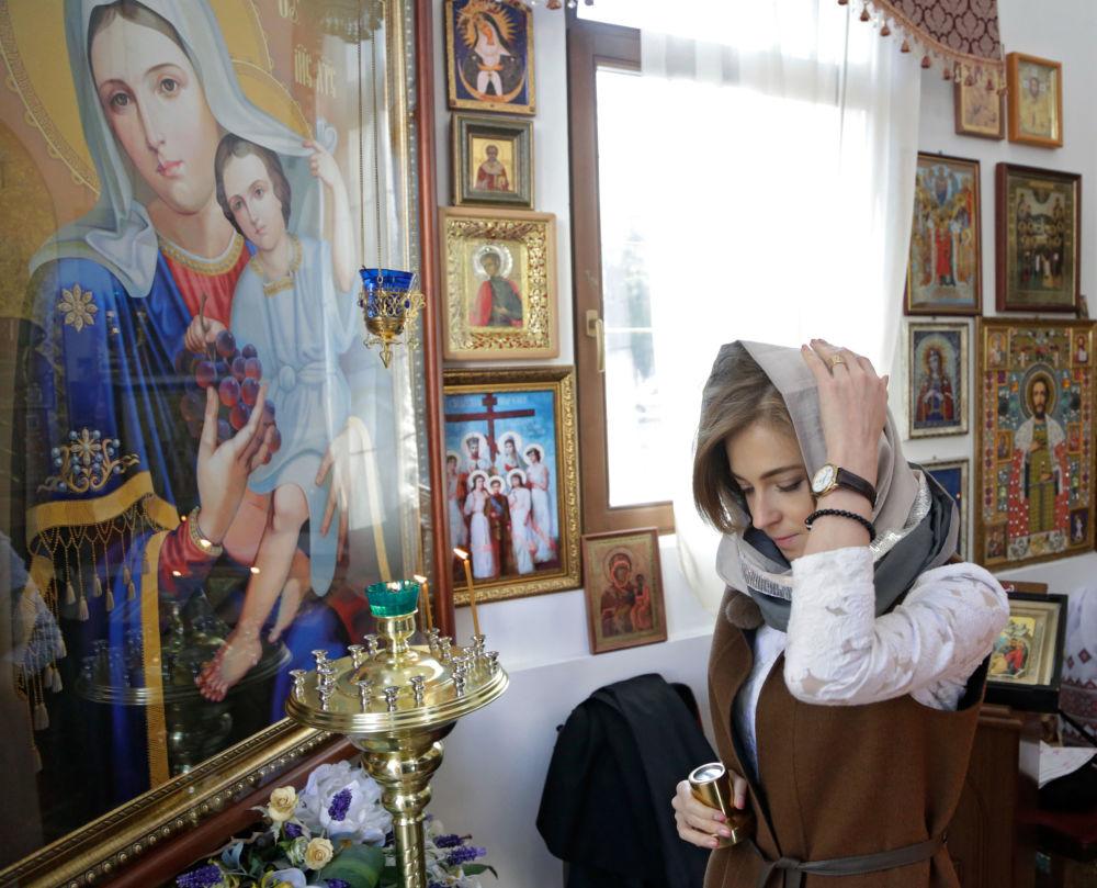 """Specjanie dla kaplicy przygotowano unikalną mozaikową Ikonę Matki Bożej """"Władającą""""."""