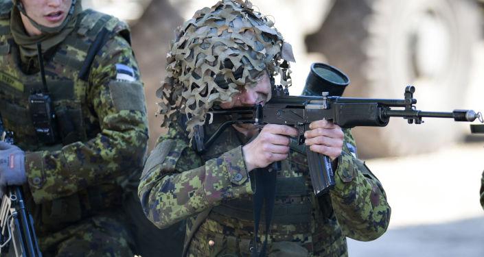Siły zbrojne Estonii wraz z NATO podczas szkoleń Wiosenny sztorm