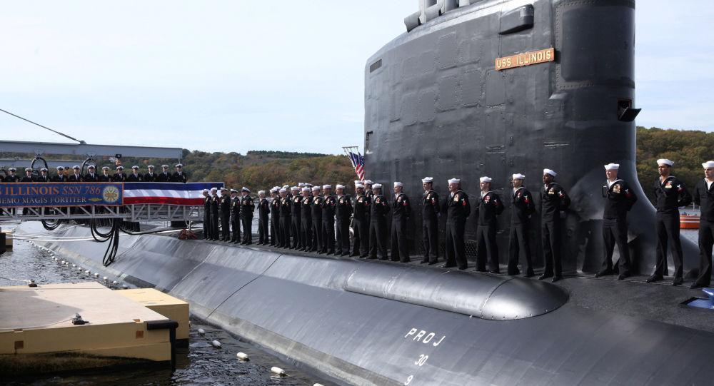 Ceremonia wodowania atomowego okrętu podwodnego amerykańskiej marynarki wojennej USS Illinois