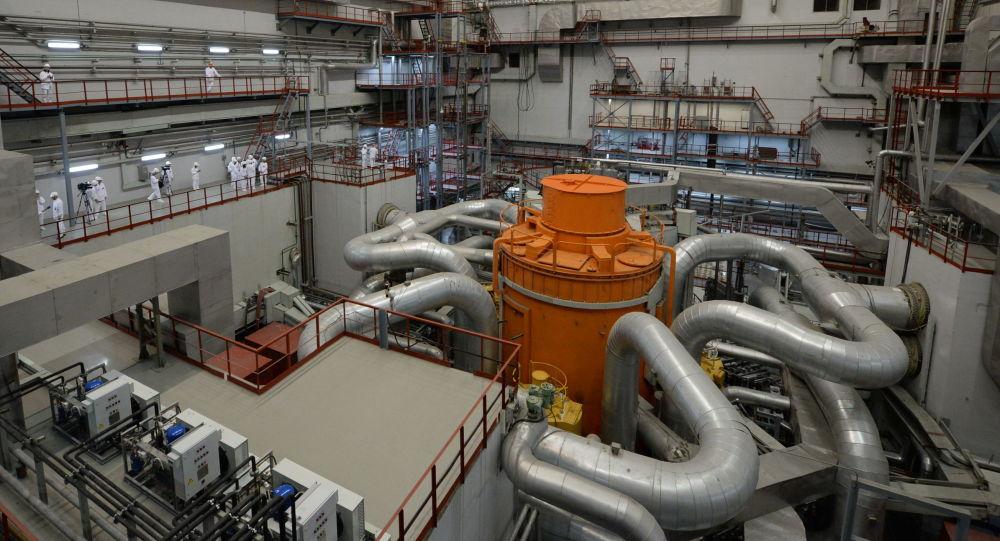 Centralna hala 4. bloku energetycznego z reaktorem BN-800 w Biełojarskiej Elektrowni Atomowej w mieście Zareczny w obwodzie swierdłowskim