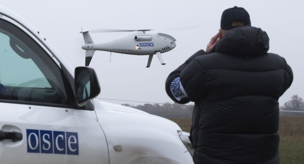 Start drona OBWE w okolicach Mariupola, Ukraina
