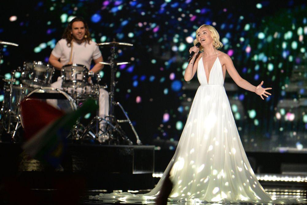 Polina Gagarina (Rosja) występuję na Eurowizji-2015