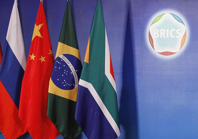 Flagi krajów członkowskich BRICS