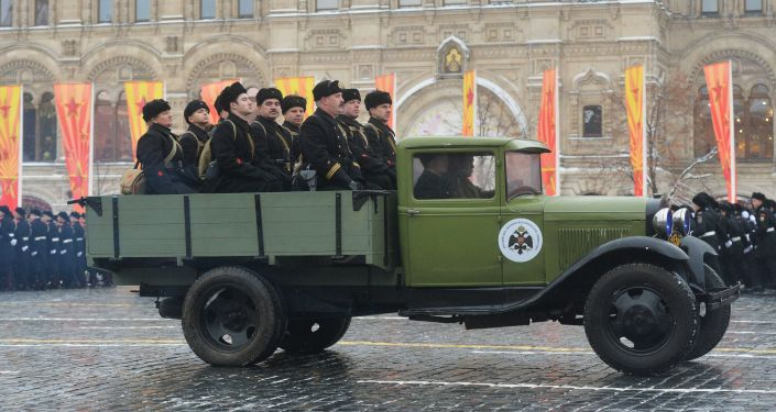 Uroczystość poświęcona 75. rocznicy parady wojskowej 1941 roku na Placu Czerwonym w Moskwie