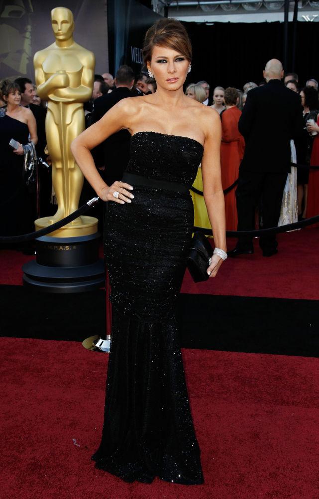 Melania Trump podczas 83. ceremonii wręczenia Oscarów w  2011 roku.