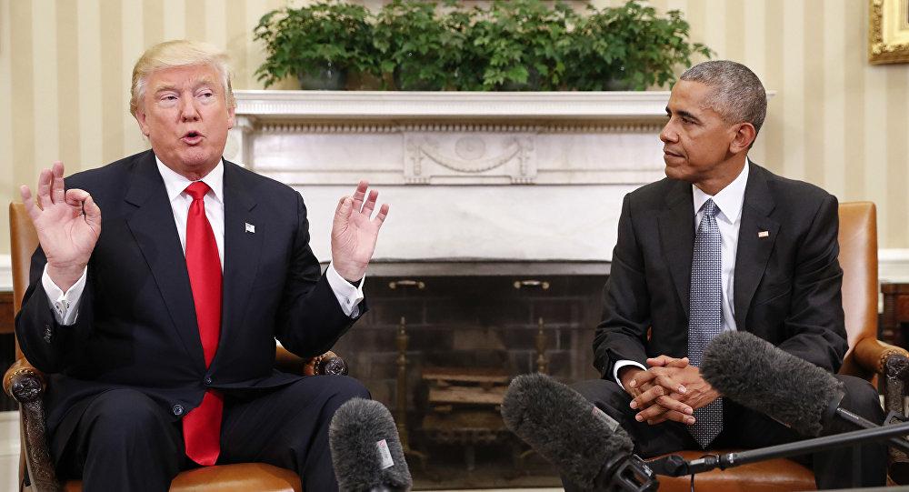 Barack Obama i Donald Trump w Białym Domu