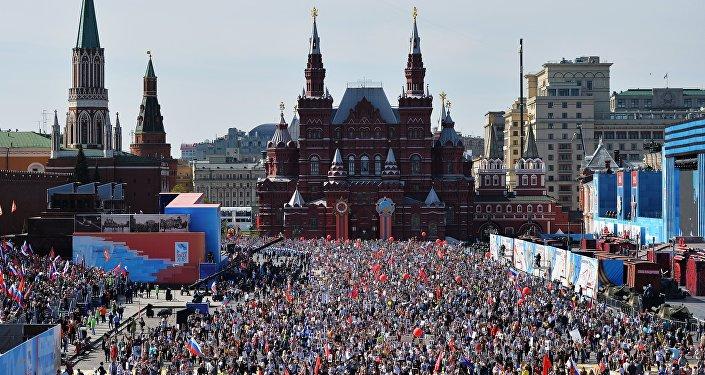 Na Placu Czerwonym podczas uroczystości 9 maja