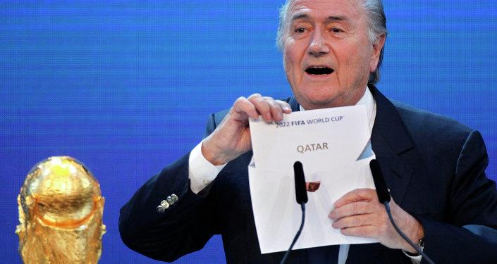Prezydent FIFA  Sepp Blatter