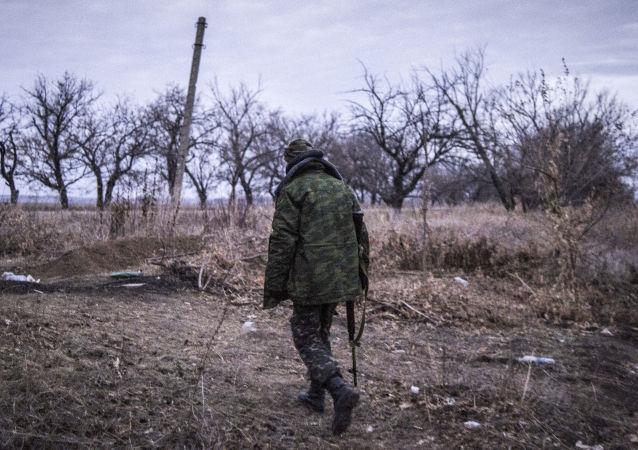 Powstaniec w obwodzie ługańskim
