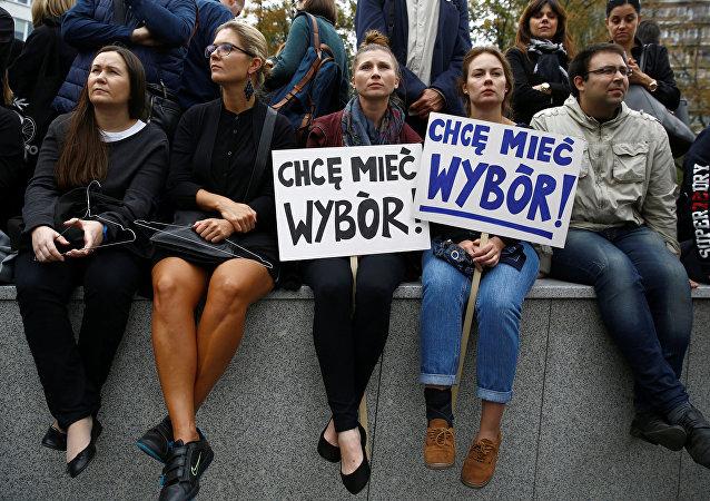 Czarny Protest w Warszawie, 01.10.2016.