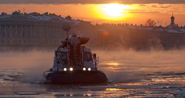 Dziadek Mróz w Petersburgu