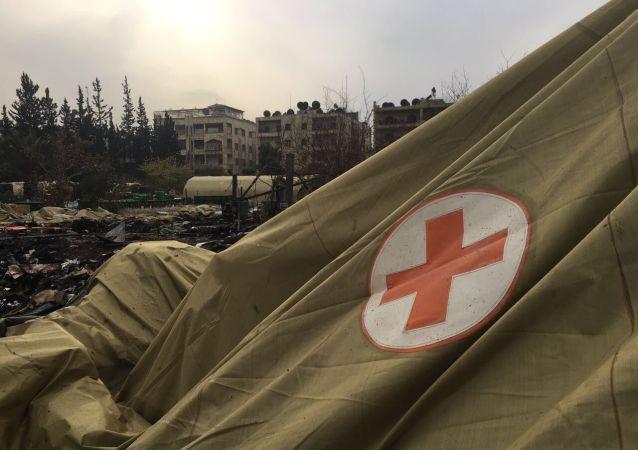 Rosyjski szpital polowy w Aleppo po ostrzale przez terrorystów