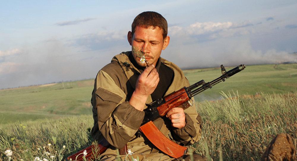 Członek batalionu Wiking 1. Słowiańskiej Brygady DRL