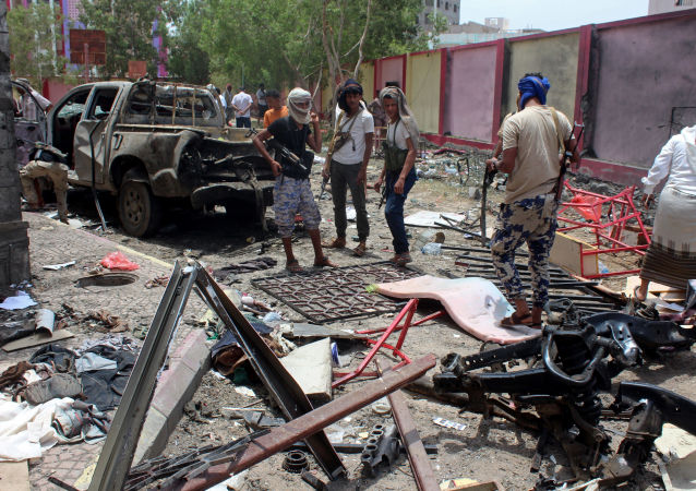 Aden. Jemen. Zamach z użyciem samochodu-pułapki