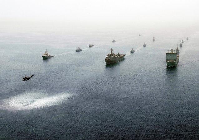 Okręty amerykańskie w Zatoce Perskiej