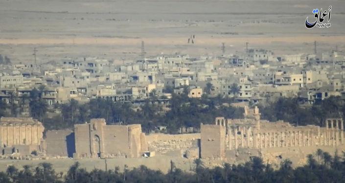 Widok na syryjskie miasto Palmira