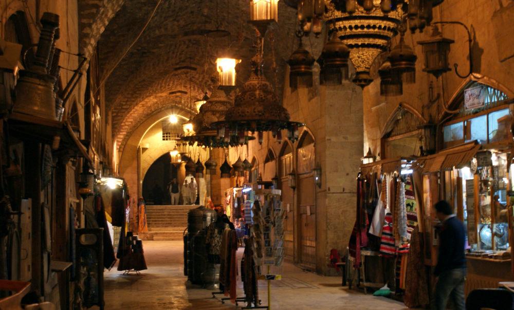 Targowisko Khan al-Shounah w starej części miasta w 2009 roku