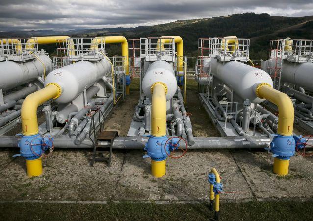 Tłocznia gazu przy wsi Wołowiec na zachodzie Ukrainy