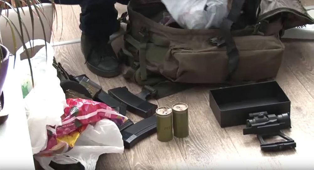 Amunicja skonfiskowana u zatrzymanych w Sewastopolu dywersantów