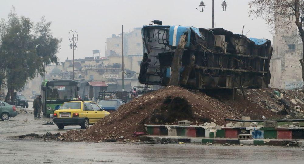 Wyzwolony kwartał wschodniego Aleppo