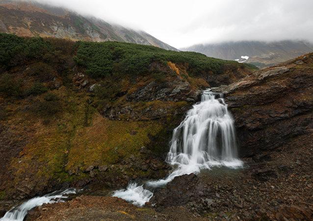 Wodospad na Kamczatce