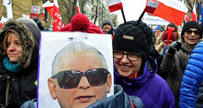 Demonstracja w Warszawie, 18.12.2016.