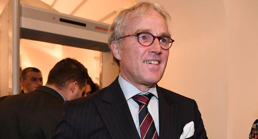 "Ambasador Niemiec w Rosji Rudiger von Fritsch w restauracji ""Galeria Artysty"" w Moskwie"