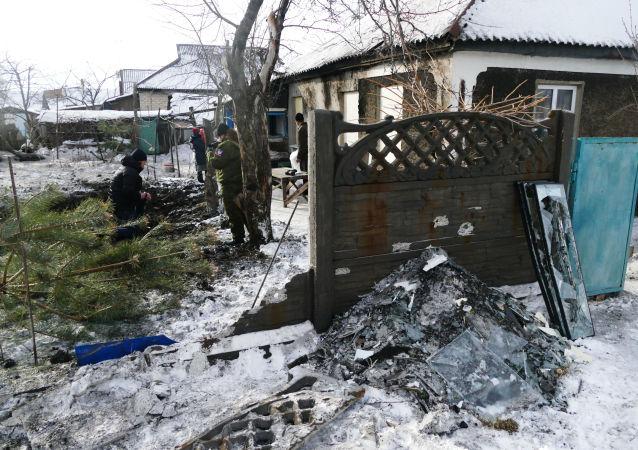 Konsekwencje ostrzału rejonu kujbyszewskiego. Donieck