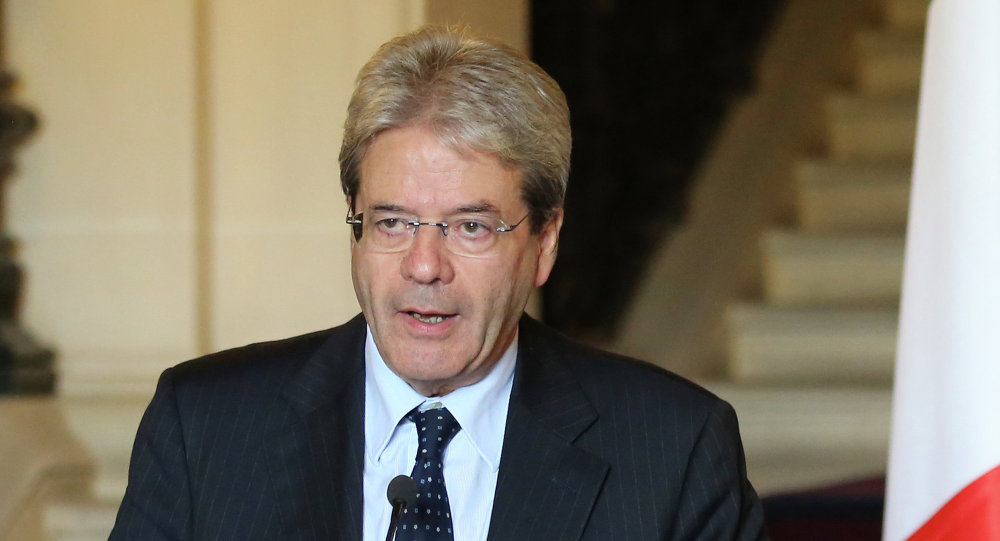 Italian Foreign Minister Paolo Gentiloni in Paris, France, Nov. 13, 2014