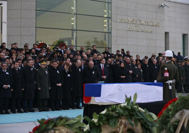 Pogrzeb ambasadora Rosji w Ankarze Andrieja Karłowa