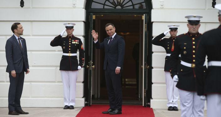 Prezydent Polski Andrzej Duda podczas wizyty w Białym Domu