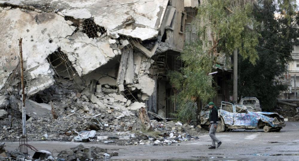 Zniszczenia w syryjskim mieście Dajr az-Zaur