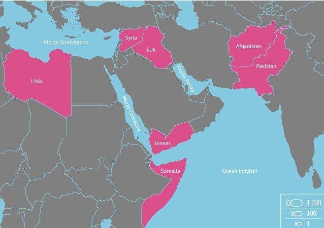 W 2016 roku USA zrzuciło 26 171 bomb w 7 krajach świata