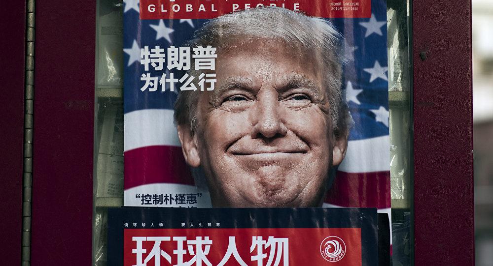 Donald Trump na okładce gazety w Szanghaju