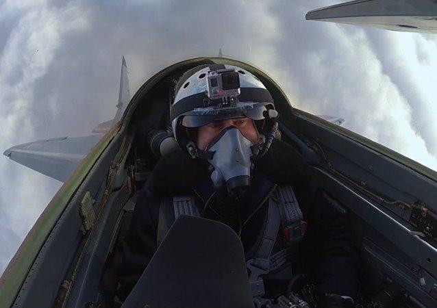 """Lot myśliwcem """"MiG"""""""