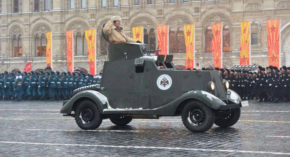 Uroczystości związane z rocznicą parady wojskowej 1941 roku na Placu Czerwonym