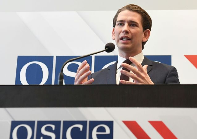 Nowy szef organizacji, minister spraw zagranicznych Austrii Sebastian Kurz na posiedzeniu OBWE