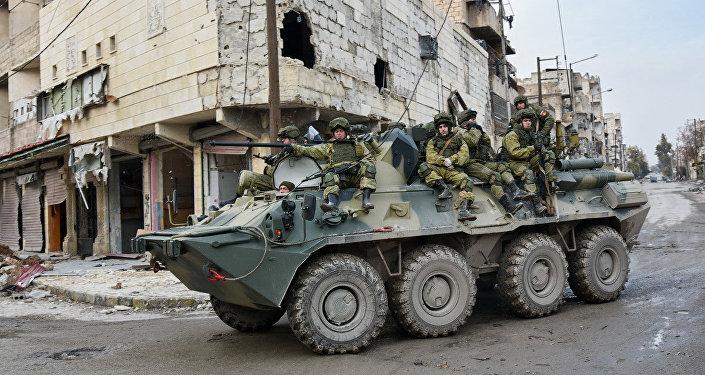 Rozminowywanie Aleppo przez rosyjskich żołnierzy