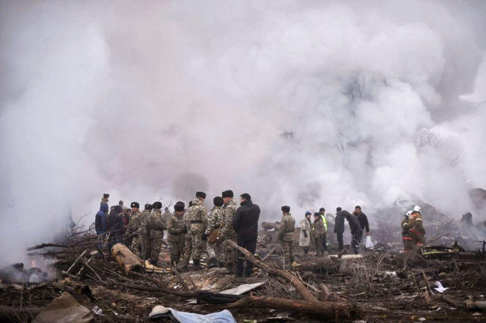 Miejsce upadku tureckiego samolotu transportowego Boeing 747 w Kirgistanie