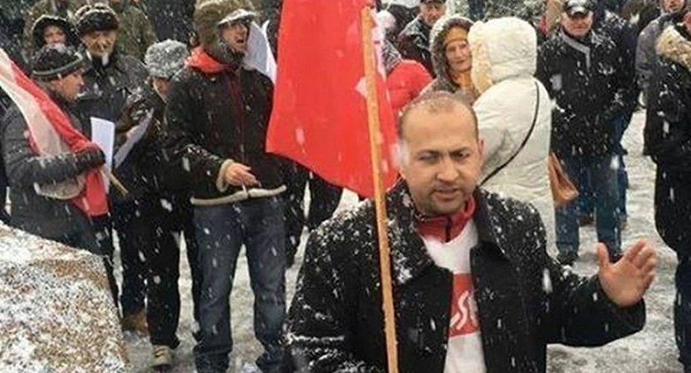 Protest przeciw amerykańskim żołnierzom w Polsce.