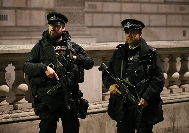 Brytyjska policja w Londynie