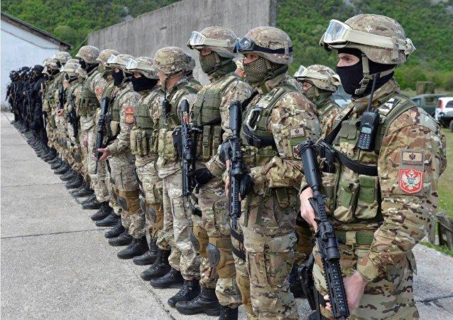 Żołnierze czarnogórskich sił zbrojnych