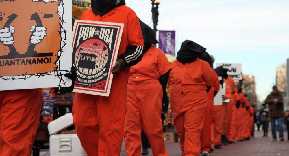 Protest przeciwko stosowaniu tortur w USA