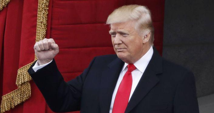 Prezydent Donald Trump podczas ceremonii inauguracji