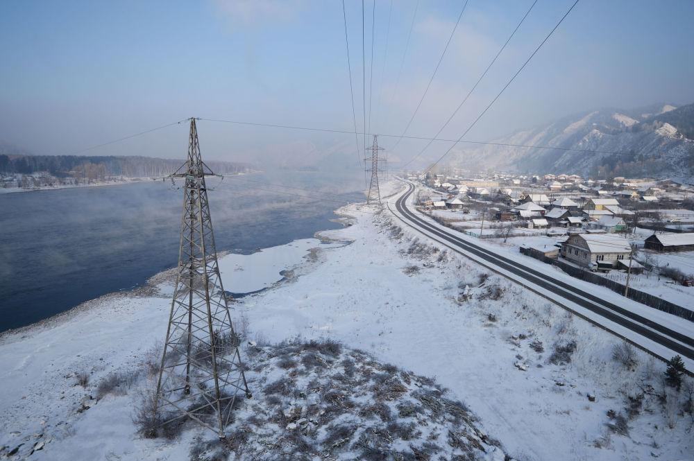Piękna zimowa Syberia