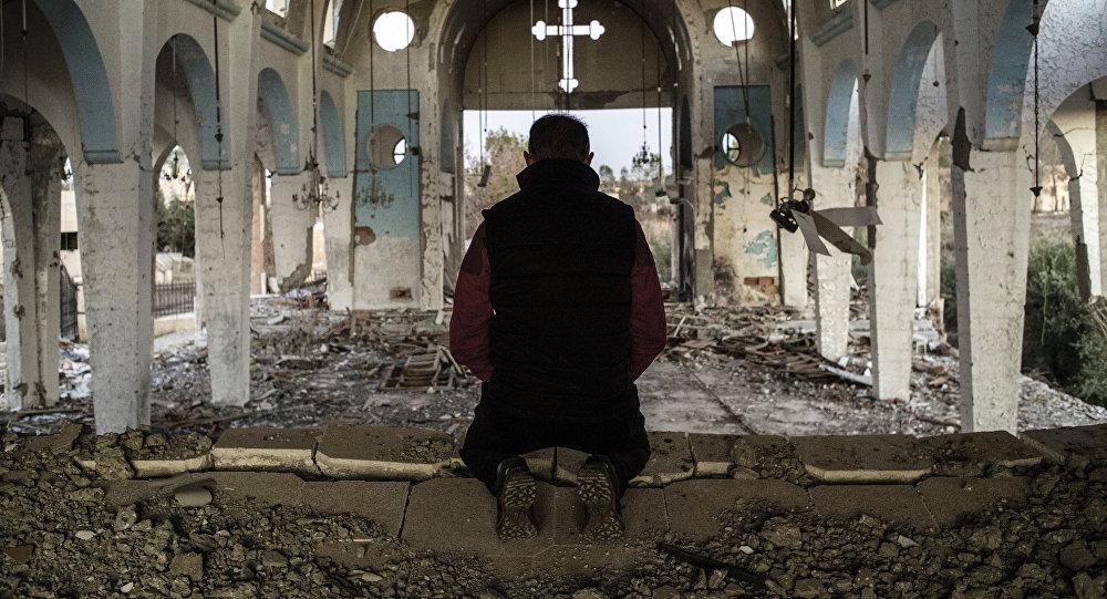 Prowincja Al-Hasake, kościół zniszczony przez terrorystów PI