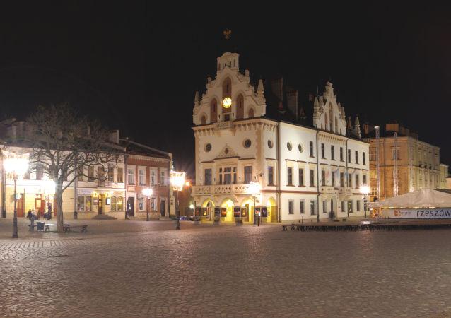 Nocny widok na Rzeszów