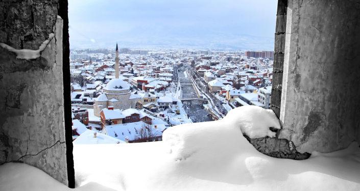 Widok na miasto Prizren w Kosowie